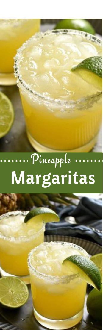 Pineapple Margaritas #cocktail #recipedrink