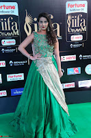 Manjusha in Beautiful Sleeveless Green Anarkali dress at IIFA Utsavam Awards 20.JPG