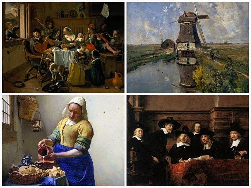 Reprodução de algumas pinturas do Rijksmuseum: como visitar o museu de Amsterdam