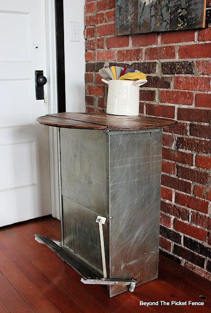 Rustic Farmhouse Chicken Feeder Side Table