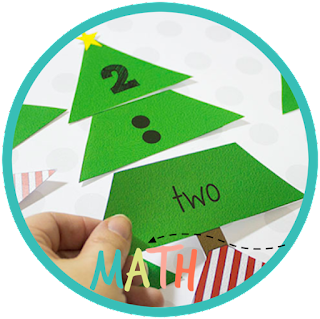 christmas tree kindergarten math puzzles