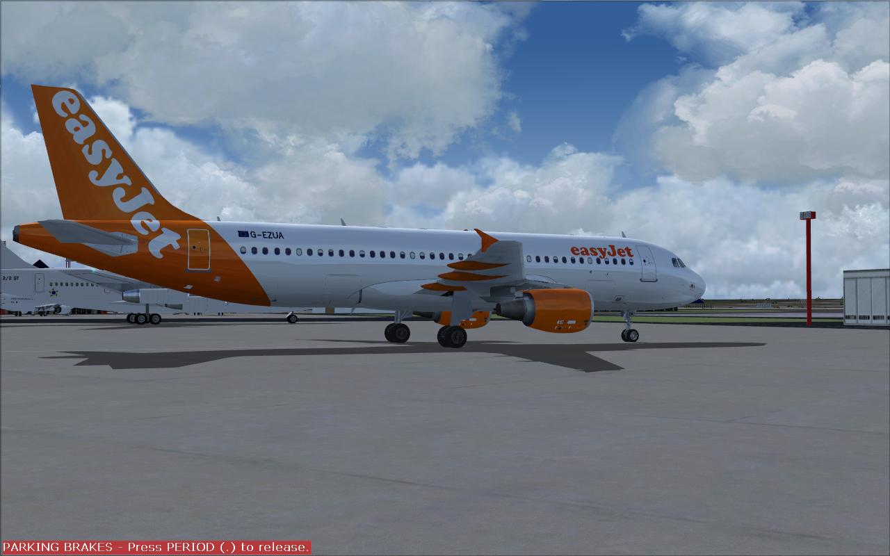 FS2004 REPAINTS: PROJECT AIRBUS A320-200 easyJet G-EZUA