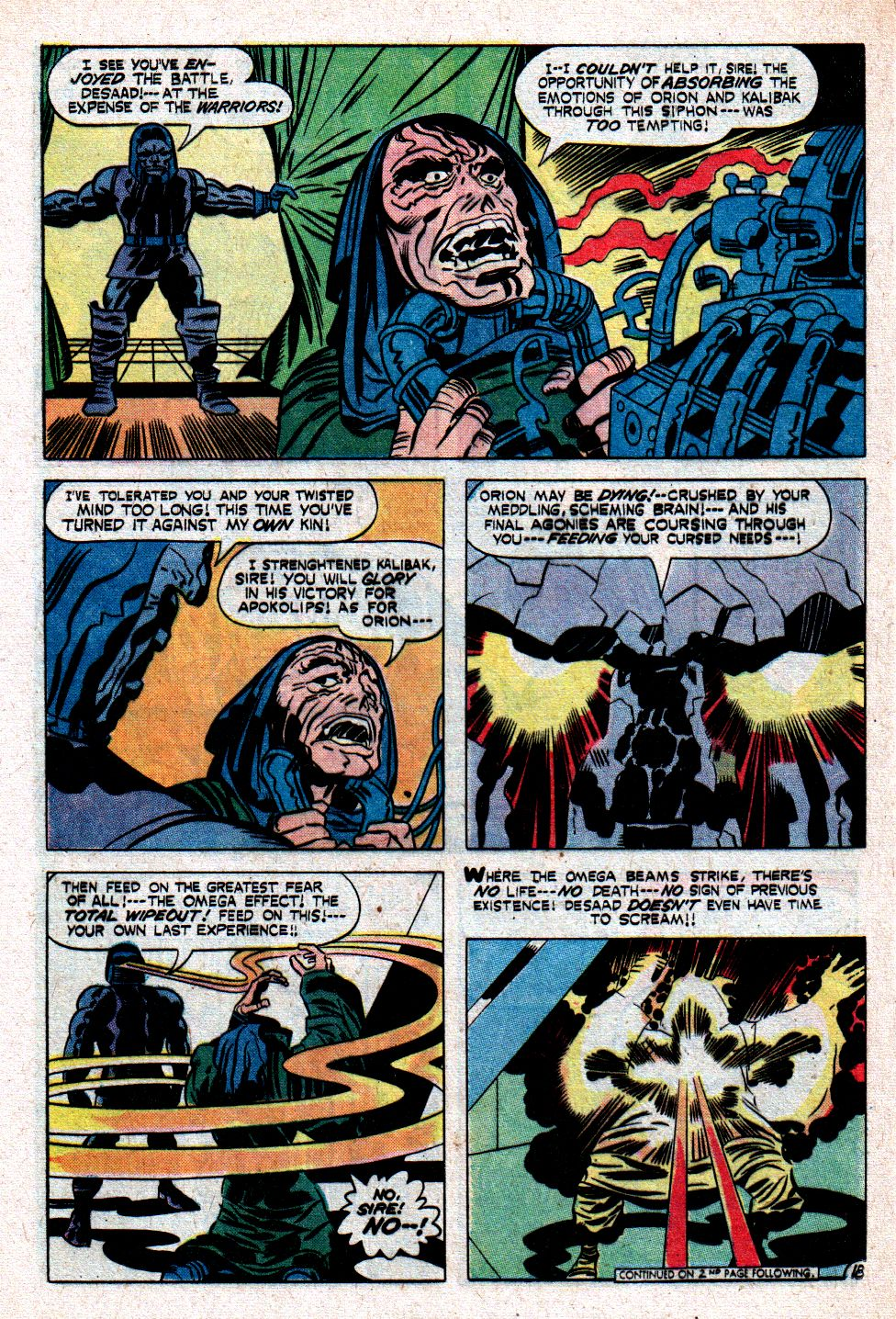 Papa Wolf: Yes, believe it or not. Darkseid had once disintegrated ...
