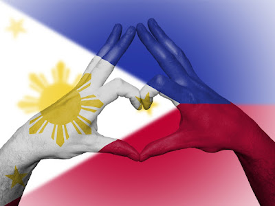 Philippine Flag Heart Hand Sign