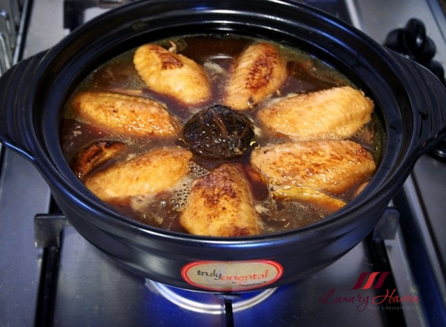la gourmet claypot recipe abalone chicken wings