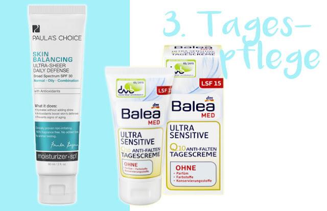 reizfreie Tagespflege bei unreiner Haut ab 20 Paulas Choice Balea MED tierversuchsfrei