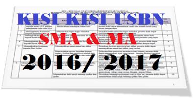 Kisi Kisi USBN SMA/ MA 2017 - Program Studi IPA, IPS, Bahasa