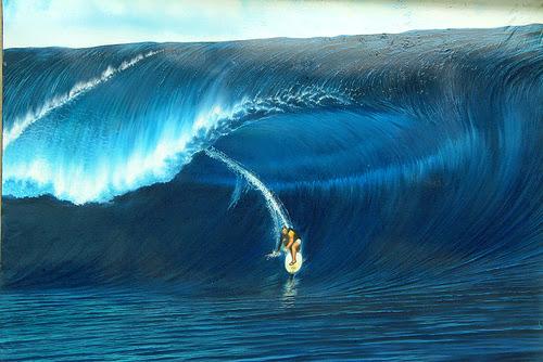 plengkung beach waves