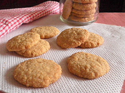 Oat Crunch Cookies Eggless Recipe @ treatntrick.blogspot.com