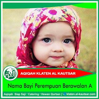 Nama Bayi Perempuan Berawalan A