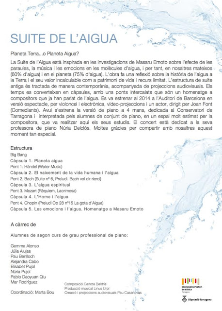 Esguard de Dona - Suite de l'Aigua Concert Dia Internacional de la Müsica Tarragona 21 de juny 2017 - Compositora Carlota Baldrís