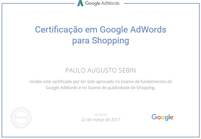 Certificado para Google Shopping