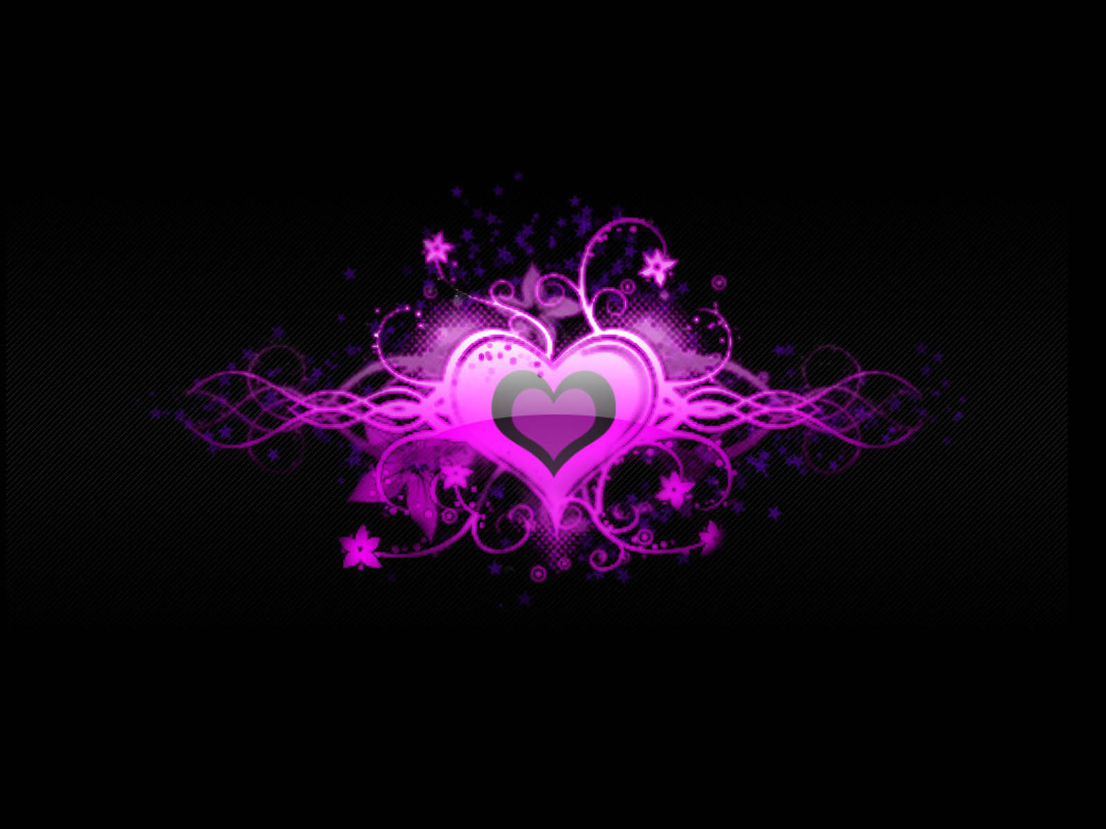 Purple And Black Hearts Wallpaper: Wallpapers: Love Heart Wallpapers