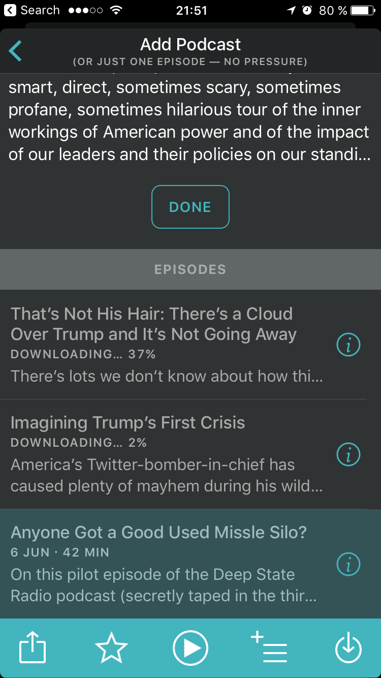 Overcast download podcast episodes