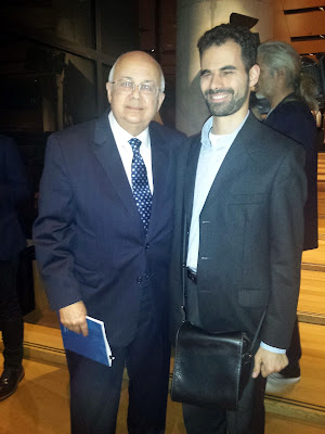 Ο Βαγγέλης Αυγουλάς με τον Ismail Serageldin