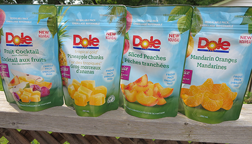 Dole Resealable Fruit Pouches ~ #Review #Giveaway
