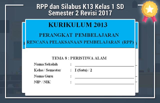 RPP dan Silabus K13 Kelas 1 SD Semester 2 Revisi 2017