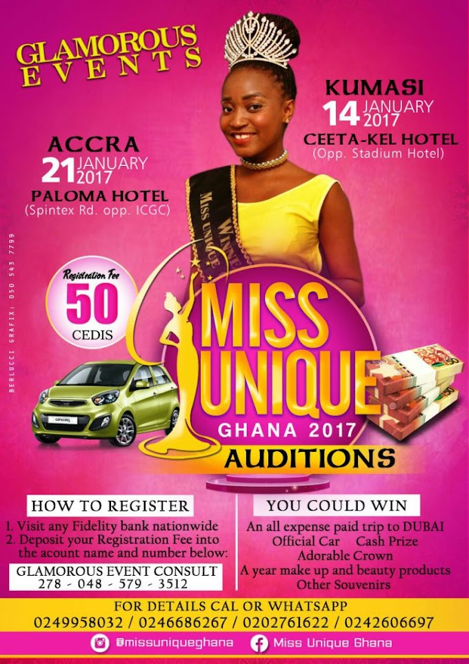 Miss Unique Ghana 2017 auditions slated for January 2017