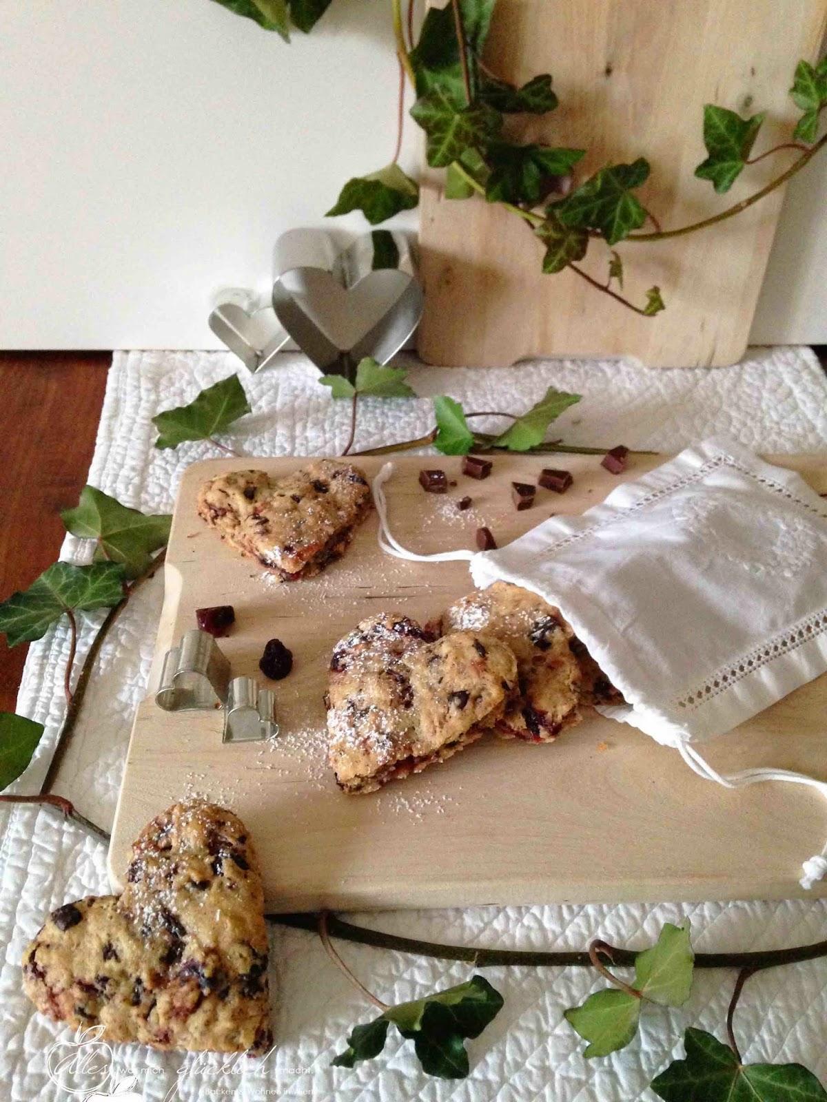 Schoko-Kirsch-Biscuits
