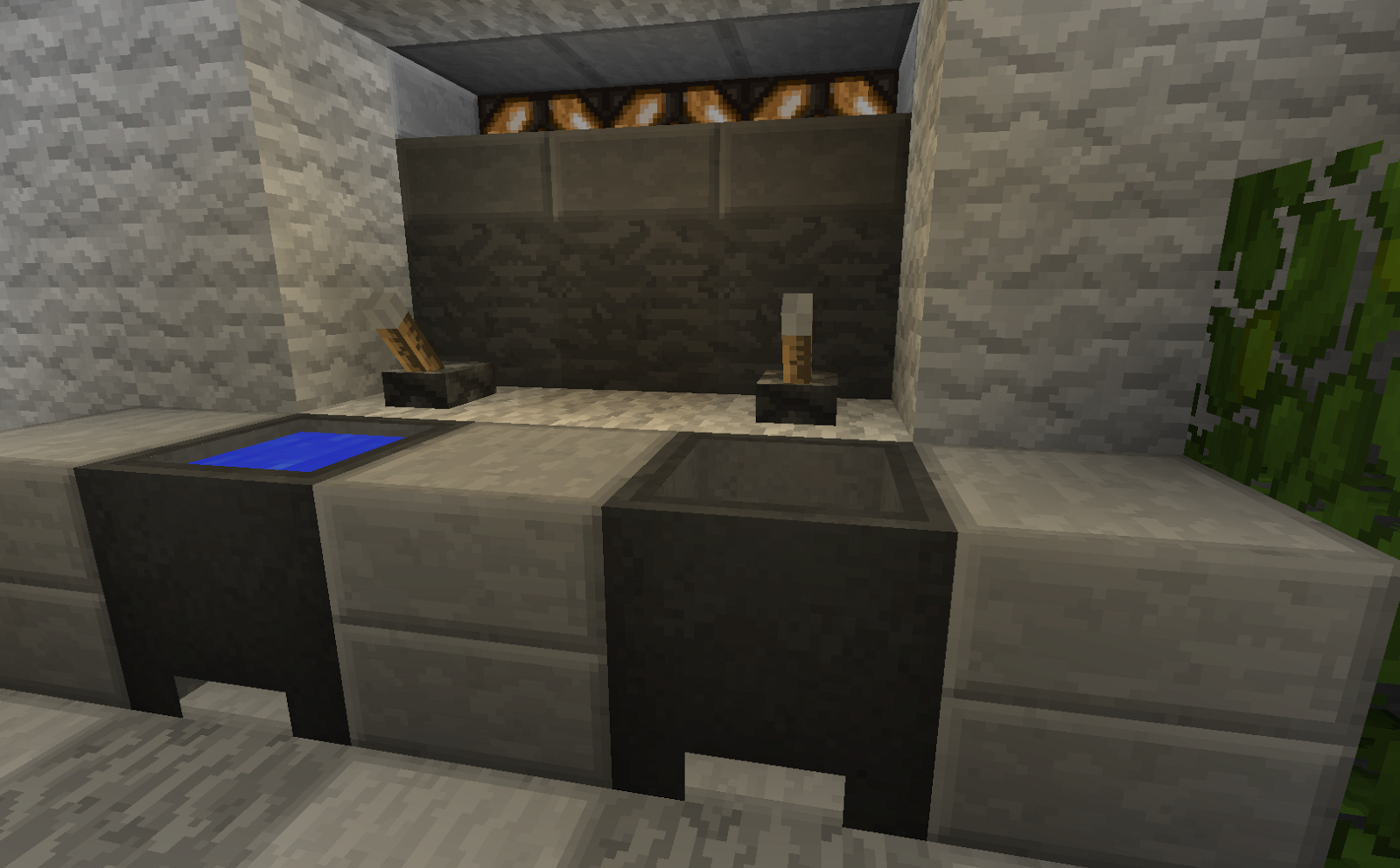 Minecraft Projects Minecraft Bathroom With Functional