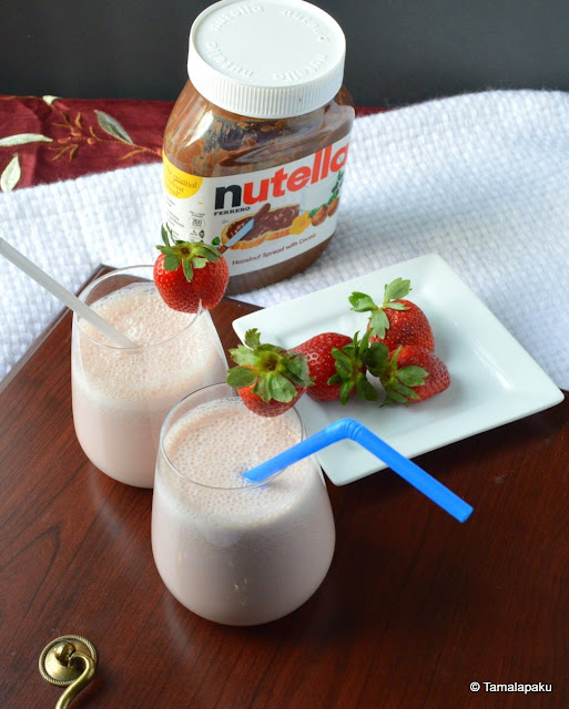 Strawberry-Nutella Milkshake