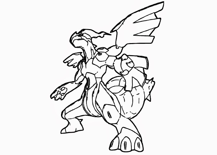 Pokemon Coloring Pages Black And White Zekrom