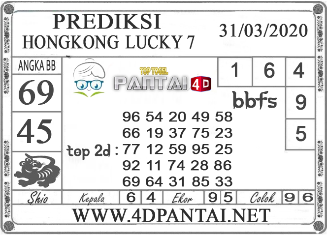 PREDIKSI TOGEL HONGKONG LUCKY 7 PANTAI4D 31 MARET 2020