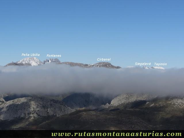 Ruta al Cerro Pedroso: Vista de Ubiña