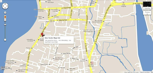 Location Map of Kuta Theater Magic Bali for Tourists Guidance,Kuta Theater Magic Bali Location Map,Kuta Theater magic Bali Accommodation Attractions Hotels map