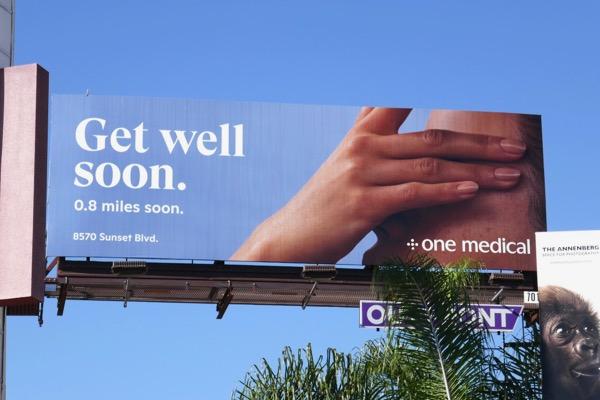 Get well soon One Medical billboard