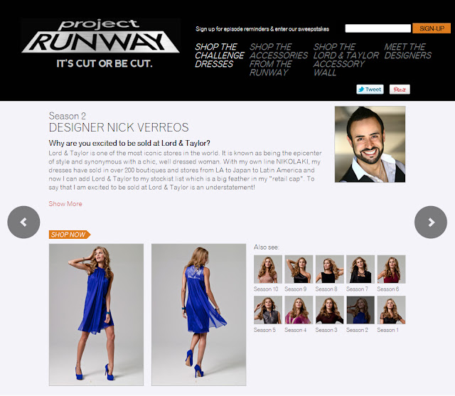 5ce4c303c1b Grecian Cocktail  Nick Verreos Dress for Project Runway Lord   Taylor Tenth  Anniversary Capsule Collection