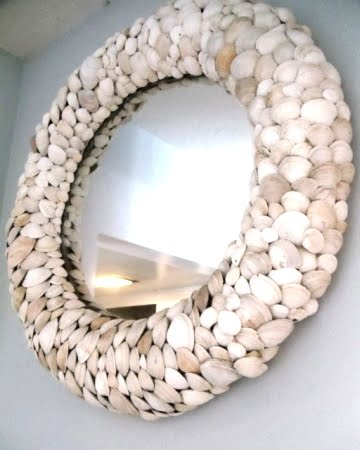 homemade shell mirror