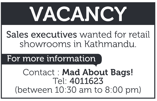 Job Vacancy for Sales Executive in Mad about Bags
