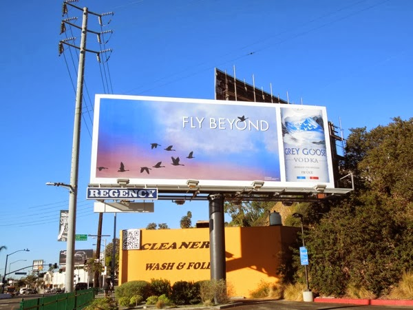 Grey Goose Fly Beyond billboard