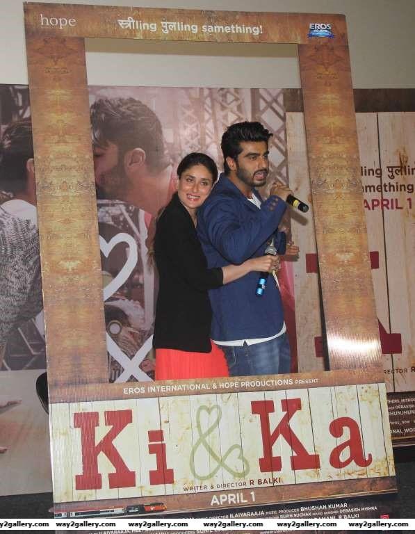 Kareena Kapoor and Arjun Kapoor shared an intimate moment during the launch of Ki and Ka
