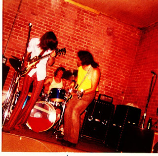 Uther Pendragon performs at The Shelter, a San Jose music venue in 1973. From left, the band members are Mark Lightcap, Bruce Marelich, Mike Beers and Martin Espinosa.  Photo courtesy of Craig Pedersen.
