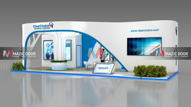 9m by 3m Exhibition stall Design 3