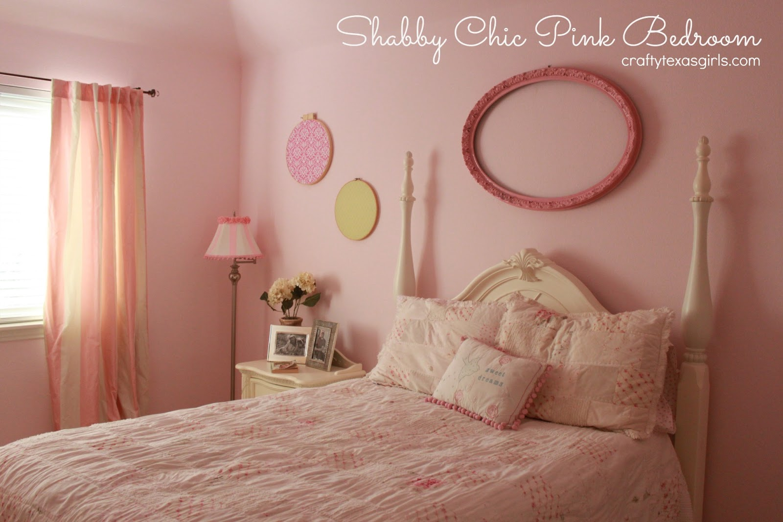 Crafty texas girls pretty in pink shabby chic bedroom - Little girls shabby chic bedroom ...