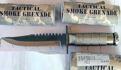 Survival Knife and Firework-type Large Smoke Grenades (PWM)