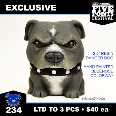 Five Points Festival 2018 Exclusive Bluenose Danger Bulldog Resin Figure by Tenacious Toys x NEMO x Dead Hand Toys x Playful Gorilla