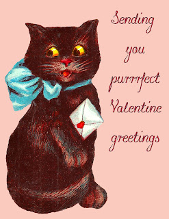 valentine greeting image printable black cat love note design