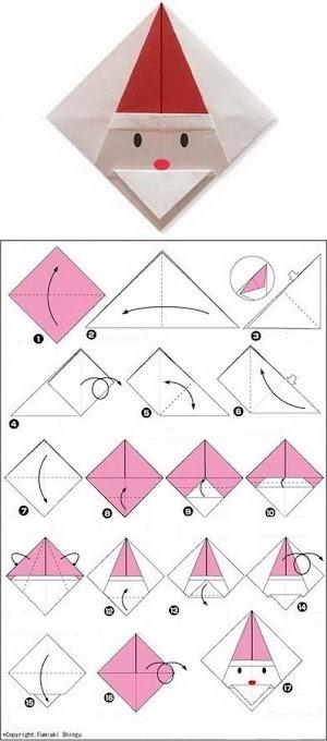 Cara Membuat Origami Santa Claus