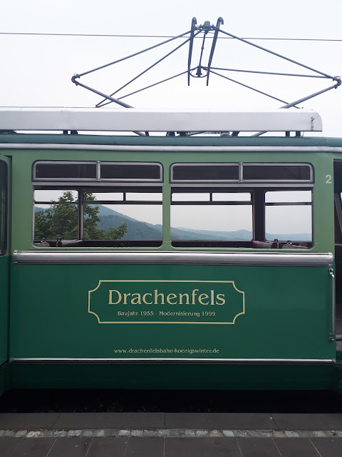 cute drachenfells train to Drachenburg castle