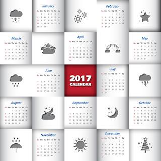 2017カレンダー無料テンプレート125
