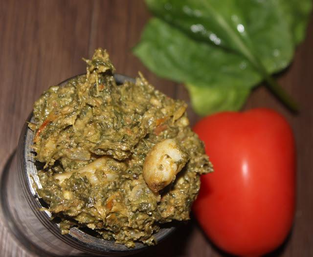 Palakura Tomato Nuvvula Roti Pachadi // Spinach Tomato Sesame Seeds Chutney
