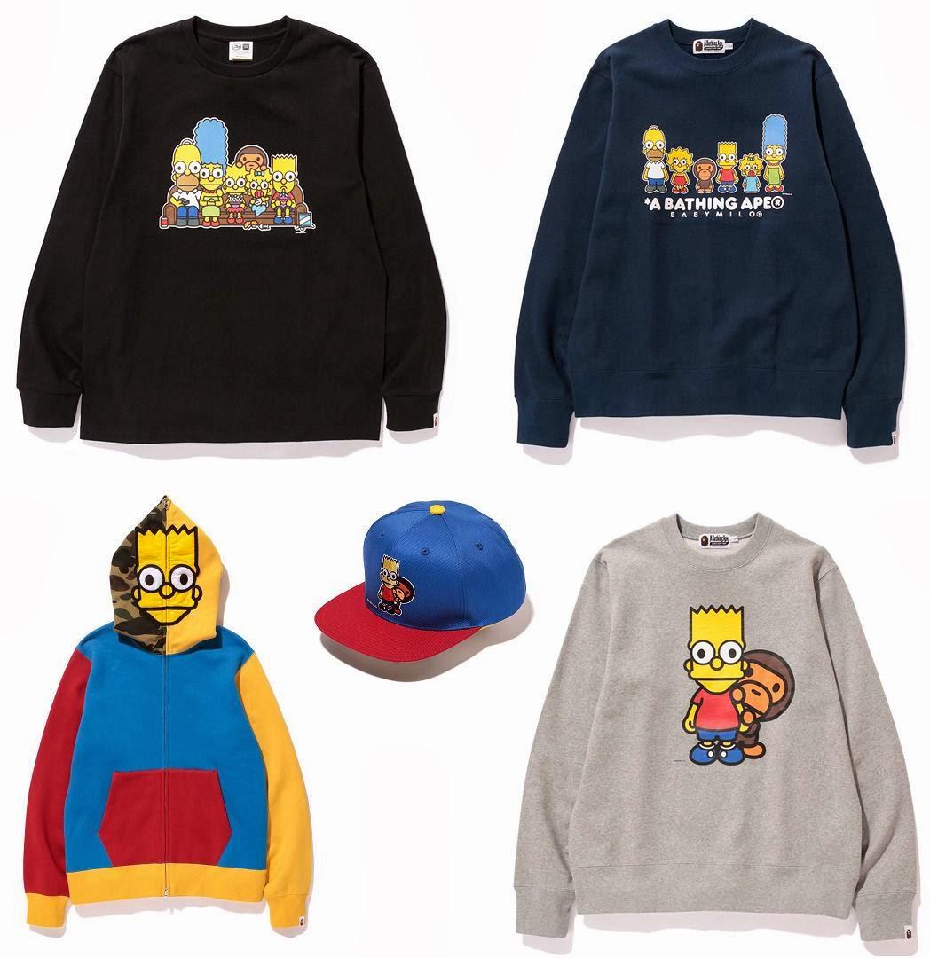 b7662065 The Simpsons x A Bathing Ape Capsule Collection - The Simpsons & Baby Milo  Crewnecks,