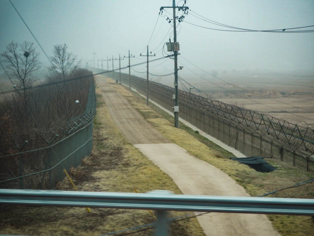 Barbed wire at North Korea border