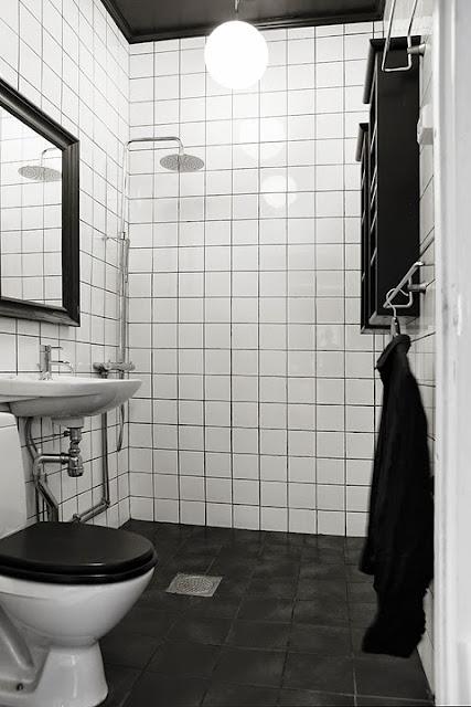 Paredes negras para 36m de piso decoraci n for Accessori bagno bianchi