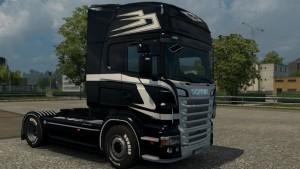 Black Rider Skin for Scania RJL