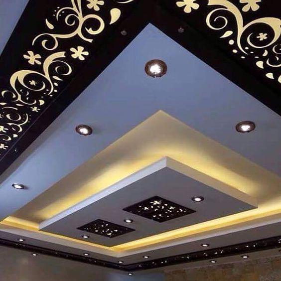 20 Amazing Ideas That Will Make Your House Awesome: 20 False Ceiling Decorating With CNC Wooden Designs, That